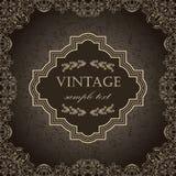 Frame do vintage em um fundo escuro Imagens de Stock