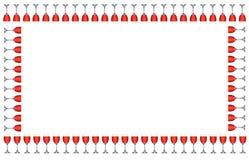 Frame do Wineglass Imagem de Stock Royalty Free