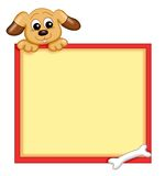 Frame with dog Royalty Free Stock Photography