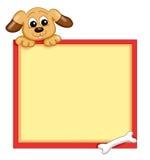 Frame with dog vector illustration