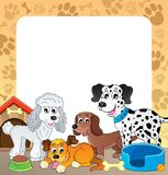 Frame with dog theme 1 Stock Photo