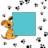 Frame with doggy Stock Images
