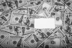 Frame of 100 dollars banknotes Royalty Free Stock Photography
