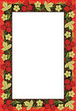 Frame is done in style of folk creation Royalty Free Stock Photography