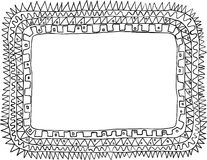Frame doodle Royalty Free Stock Image