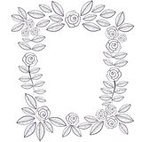 Frame of doodle roses . Royalty Free Stock Images