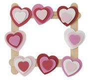 Frame dos corações. Foto de Stock