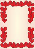 Frame dos corações Imagens de Stock