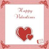 Frame dos corações Imagens de Stock Royalty Free