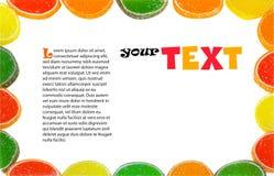 Frame dos doces Imagem de Stock