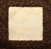 Frame dos feijões de café Fotografia de Stock