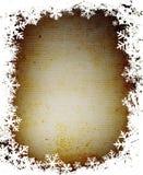 Frame dos flocos de neve de Grunge Fotos de Stock