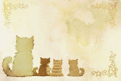 Frame dos gatos Imagem de Stock