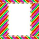 Frame dos lápis ilustração stock