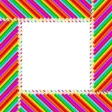 Frame dos lápis ilustração do vetor