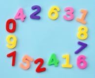 Frame dos números Fotos de Stock Royalty Free