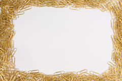 Frame dos Paperclips Foto de Stock Royalty Free