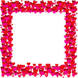Frame dos Valentim - vetor Fotografia de Stock Royalty Free