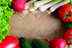 Frame dos vegetais fotos de stock