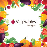 Frame dos vegetais Imagem de Stock Royalty Free