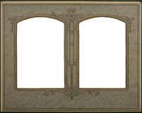 Frame double. Victorian frame  with double windows - includes clipping path Royalty Free Stock Photos