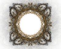 Frame dourado. Ilustração Royalty Free