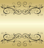 Frame dourado Imagens de Stock Royalty Free