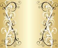 Frame dourado abstrato Foto de Stock Royalty Free