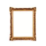 Frame dourado antigo, isolado Fotografia de Stock