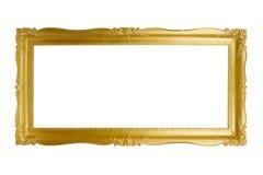 Frame dourado barroco fotografia de stock