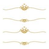 Frame dourado com coroa Fotografia de Stock