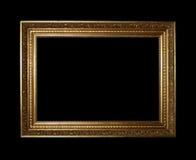 Frame dourado com trajeto de grampeamento Foto de Stock