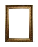 Frame dourado com trajeto de grampeamento Foto de Stock Royalty Free