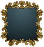 Frame dourado da folha Fotografia de Stock