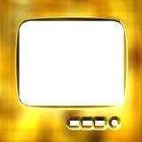 frame dourado da tevê 3D Imagem de Stock Royalty Free