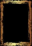 Frame dourado de Grunge Fotos de Stock