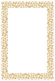 Frame dourado do diploma ou do certificado Foto de Stock Royalty Free