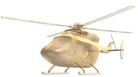 Frame dourado do helicóptero Imagens de Stock Royalty Free