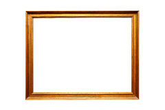 Frame dourado do vintage, isolado no branco Imagem de Stock Royalty Free