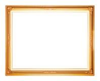 Frame dourado isolado Imagens de Stock