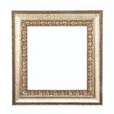 Frame dourado isolado no fundo branco. Fotografia de Stock Royalty Free