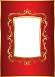 Frame dourado luxuoso Foto de Stock