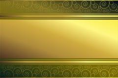 Frame dourado no fundo verde Imagens de Stock Royalty Free