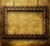 Frame dourado velho Fotos de Stock Royalty Free