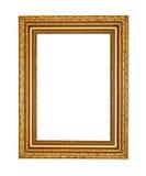 Frame dourado velho com trajeto de grampeamento Fotos de Stock Royalty Free