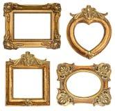 Frame dourado velho Objeto antigo Imagens de Stock Royalty Free