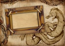 Frame with dragon Royalty Free Stock Images