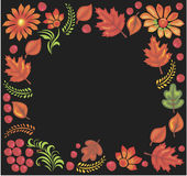 Frame drawn in russian traditional style in vector Royalty Free Stock Photos