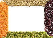 Frame dried beans Stock Photo