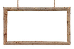 Frame of dry tree branches with rope Stock Image